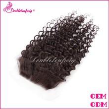 5A grade brazilian human hair cheap lace closure, virgin hair bundles with lace closure free shipping
