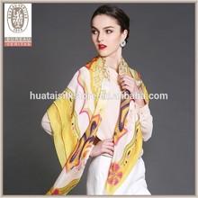 Handmade wide print stole shawl scarf wholesale silk shawl