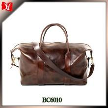high quality mens genuine leather travel bag waterproof travel duffel bag