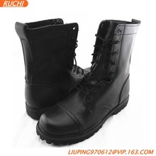 Mens Combat Boots Military Styles Tactical Boots Genuine Leather Mens Boots Rubber Sole Black
