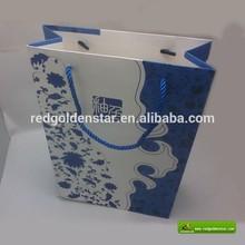 elegent luxury wine packaging paper bag, paper hand bag for wine/tea