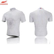 chian manufacture team sports bike race white cycling jersey