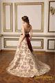 Vestido de noiva elegante! Brilhante florimpressa e cor champanhe vestidos de noiva trem tribunal vestido de noiva de noiva cabide