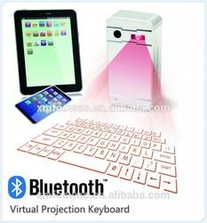 Top sale mini wireless keyboard ,virtual laser projector keyboard for iPad