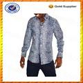 Personnalisé à manches longues slim fit hommes d'africaines shirt./personnalisée. shirts imprimés en gros
