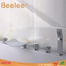 5-hole bath faucet with Plastic Handle Shower