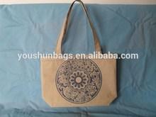 2014 hot sale foldable linen shopping bag