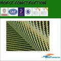Amarelo fibra de carbono e fibra de aramida híbrido tecido