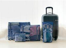 4 PCS Mesh Travelling Luggage Organizer Bag Set