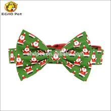 Christmas Dog Bow Tie Collar Set, Santa Bow Tie Dog Collar