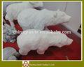 Mármore branco animal figura escultura em