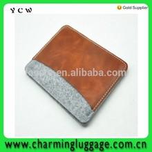 felt and leather laptop sleeve bag case for iPad mini/ 2 3 4 /Air