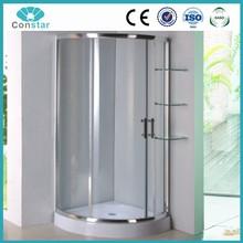 Small round in corner custom made shower door