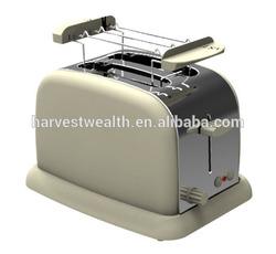 2 Slice Stainless Steel Cream Toaster + Bun Warmer