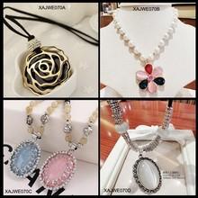 Yiwu Xinxiang MOQ 12pcs in stock channel jewelry artificial opal semi precious stone necklace