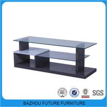 living room wood glass 65 inch tv wall units design