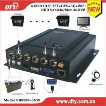 DTY VR8800W real time surveillance d1 h264 4ch video& audio wireless transmission p2p/pnp cloud network dvr