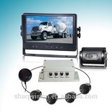 0.6-5m sensor detection range truck/bus/vans parking sensor system with 9 inch monitor
