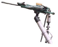 Pneumatic air-leg rock drill
