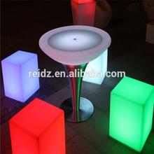 Cheap priece LED bar furniture LED light night club disco decor cube pe led bar chair model