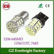 led brake light 1157, 1156, t20 w21 5w 7443 led 1206 64SMD led tail lights tuning light