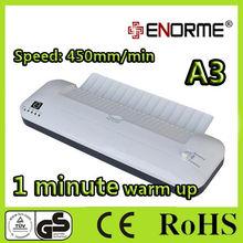 A4 or A3 size hot roller laminate machine