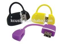Custom lovely bag shape USB Flash Drive hot fashion gift usb PVC bag usb