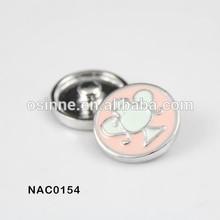 2014 ebay wholesale cute enamel birds snap press button jewelry NAC0154