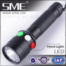 SME - Q514 three color railway use red white green led flashlight