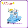 Alison t02008 lindo material plástico mini carro elétrico para 2-4 anos as crianças