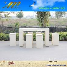 91001 Wicker garden high bar furniture set