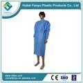 Polyethylen roupas disposale enfermeira do hospital vestido