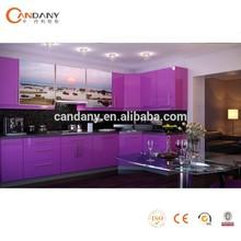 Candany kitchen cabinets purple Bespoke Modular Modern Kitchen
