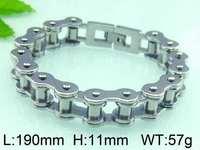 Kalen stainless steel bicycle chain bracelet bike links men's bracelets