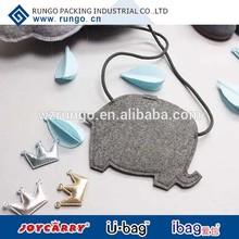 Cute Small felt bag pig shape for kids for children