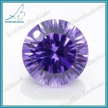 Wuzhou Wholesale Machine Cut Round Cubic Zirconia Gemstone CZ Gemstone