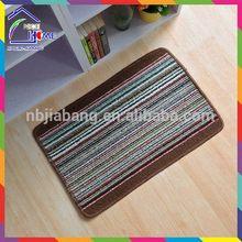 Striped PP door mat fashion latest outdoor christmas door mats