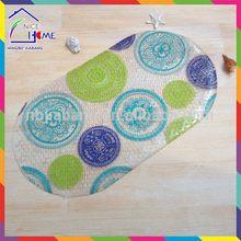 Print fashionable hot sell anti-slip bath rugs shower mats