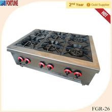 Restaurant equipment counter top 6 burner new model gas stove FGR-26