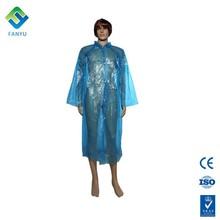 disposable PE plastic outdoor light poncho rain coat
