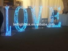 3D metal channel led channel LED light up wedding love letter