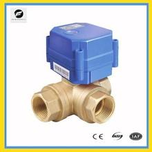 3 way electric stepper motor ball valve T flow L flow for solar heater 15mm 20mm 220v