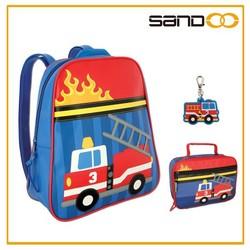 Wholesale Cute Boys Fire Truck Backpack for School, Kids Truck School Bag