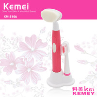 KEMEI KM-3106 Special waterproof rotary rotating electric toothbrush and face brush 2 in 1.