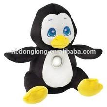 Cuddly Penguin Kid's Huggable Flashlight/ Nightlight Stuffed Animal with Auto Shut-Off & LED Safe Light