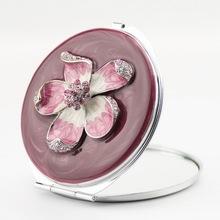 small decorative handbag cosmetic mirrors pink round compact mirror square silver makeup mirror