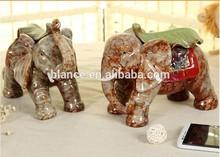 low moq ceramic elephant home decoration
