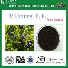 dried Bilberry powder with anthocyanins anthocyanidins