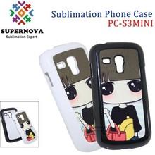 Plastic Heat Transfer Phone Case for Samsumng Galaxy S3 Mini