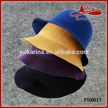 Women's Fedora Fashion Elegant Bucket Hat Berets Cap 100% Wool Felt